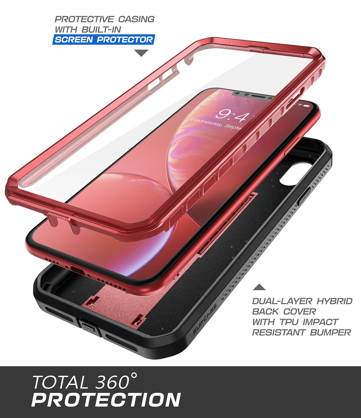 various colors 40291 a04fc New SUPCASE Unicorn Beetle UB Pro Case + Screen Protector For IPhone XR Red
