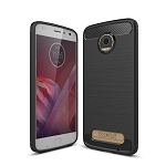 New For Motorola Moto Z2 Play Brushed Texture Carbon Fiber Shockproof TPU Rugged Armor Protective Case