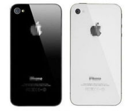 New OEM IPhone 4S Back Glass Battery Door Cover - Phone Repair Service Option # 1
