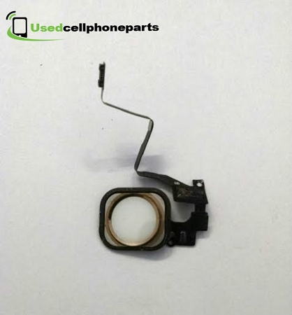 Original OEM Apple Iphone 5s Home Menu Return Button + Gasket Flex Cable Unit   White/Gold