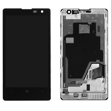 Black Nokia Lumia 1020 LCD Screen Touch Digitizer + Bezel Frame Assembly Replacement - Phone Repair Service Option  # 1