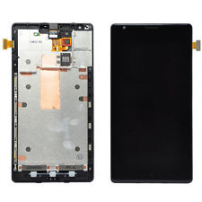 Black Nokia Lumia 1520 LCD Screen Touch Digitizer + Bezel Frame Assembly Replacement - Phone Repair Service Option  # 2