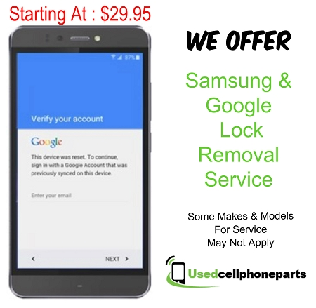 Samsung Galaxy S6 Edge Plus (All Models) Samsung Or Google Lock Removal Service