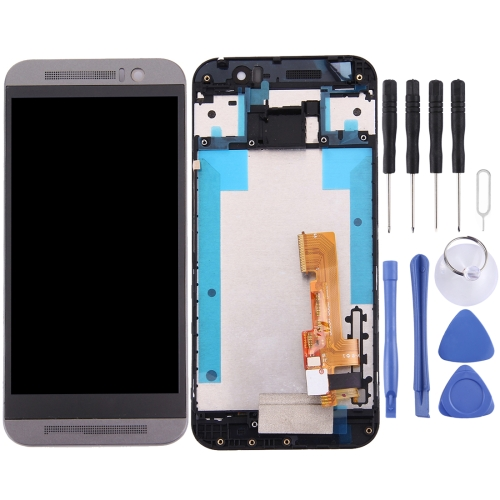 New LCD Screen and Digitizer Full Assembly with Frame for HTC One M9 (Grey)