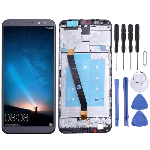 LCD Screen and Digitizer Full Assembly with Frame for Huawei Mate 10 Lite (Black)