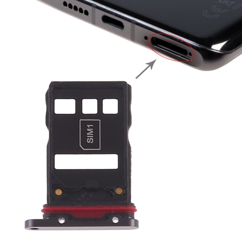 SIM Card Tray + NM Card Tray for Huawei P30 Pro (Black)