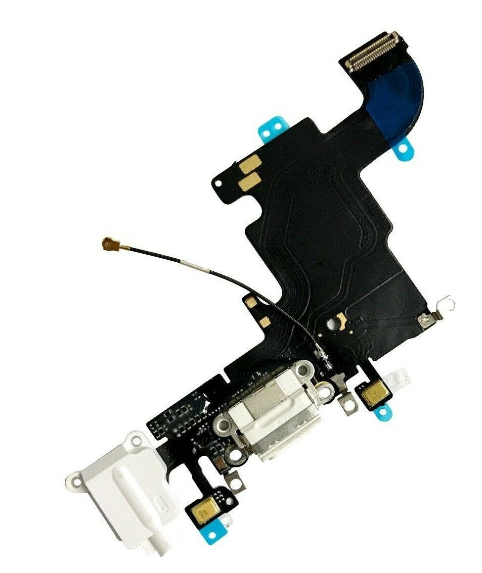 New USB Charging Port Flex Cable for iPhone 6s (White)