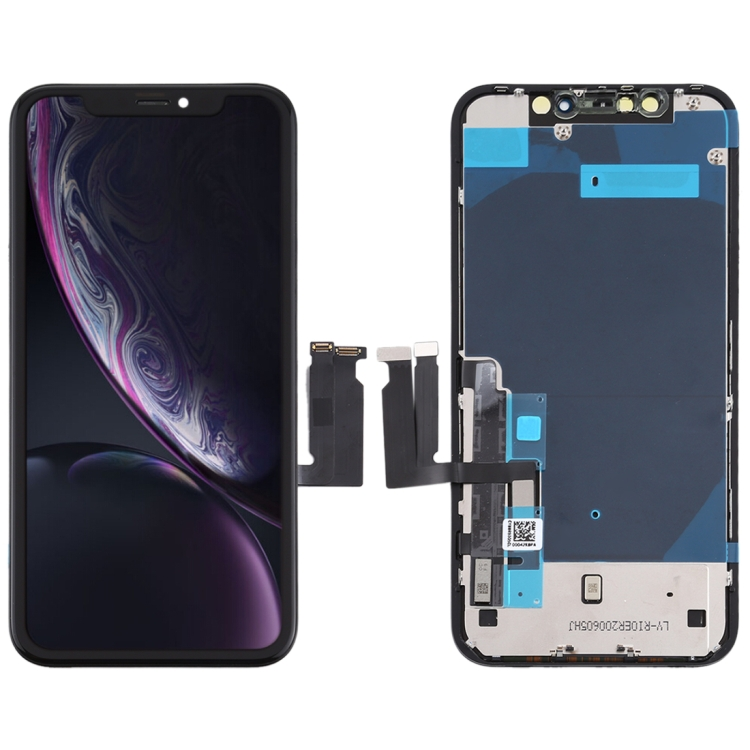 Apple IPhone XR LCD Screen Touch Digitizer + Bezel Frame Assembly Replacement - Phone Repair Service Option # 2