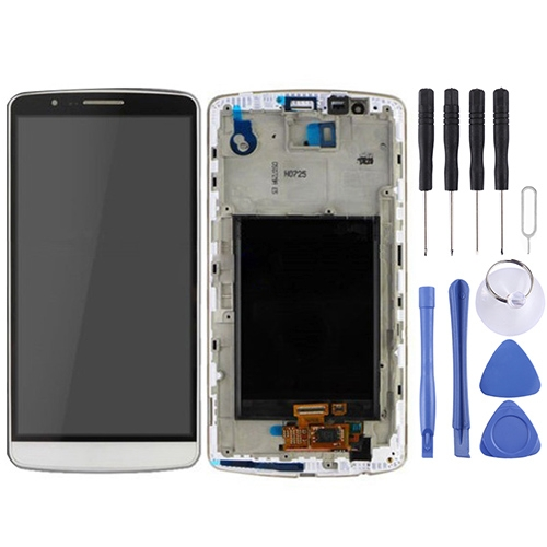 LCD Display + Touch Panel with Frame for LG G3 / D850 / D851 / D855 / VS985 (White)