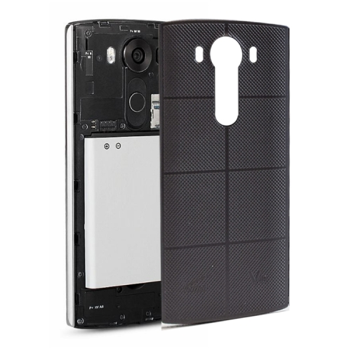 Leather Back Cover with NFC Sticker for LG V10 (Black)