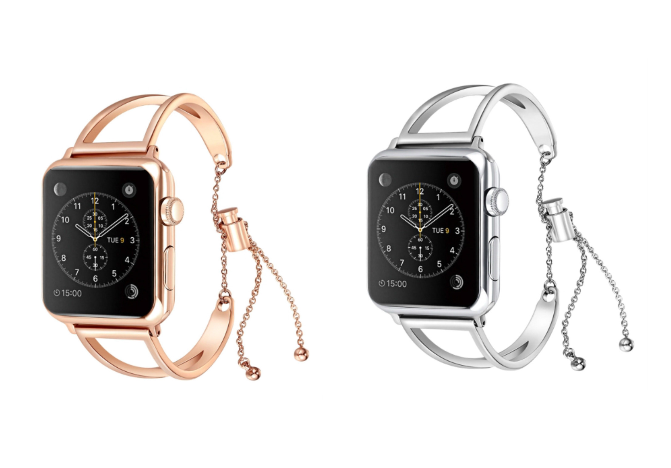 New Letter V Shape Bracelet Metal Wrist Watch Band with Stainless Steel Buckle for Apple Watch Series 3 & 2 & 1 42mm