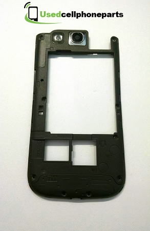 Samsung Galaxy S3 SIII SGH-I747 Mid Frame + Camera Lens Housing - Grey