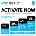 $35 At&t Month to Month Prepaid Service Plan Activation Service