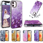 Dual Layer Shiny Butterfly Glitter Case For iPhone 11