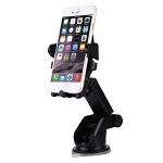 Universal 360 Degrees Rotation Car Air Vent Mount Silicone Sucker Holder Stand with Flexible Stretching Clip