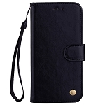 Business Style Oil Wax Texture Leather Holder & Card Slot & Wallet Case for Huawei Honor 8X