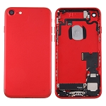 Housing Battery Back Cover Frame Assembly with Sim Card Tray for Apple iPhone 7 - (Red)