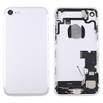 Housing Battery Back Cover Frame Assembly with Sim Card Tray for Apple iPhone 7 - (Silver)