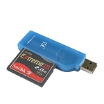 New SSK SCRS028 USB 2.0 Interface External Card Reader - (Supports CF Card / MD)