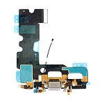 New USB Charging Port + Audio Flex Cable for iPhone 7 (Grey)