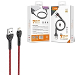 LDNIO LS481 6.6ft Fast Charging Cable for Apple IPhone IOS - RED