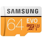 New Original Samsung EVO 64GB Micro SD Memory Card
