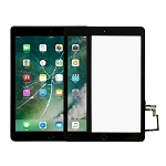 LCD Digitizer Touch Panel with Home Key Flex Cable for iPad 5 9.7 inch 2017 A1822 A1823 (Black)