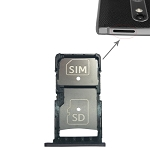 SIM Card Tray + Micro SD Card Tray for Motorola Droid Turbo 2 / XT1585 (Grey)