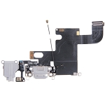 New Charging Port Dock Connector Flex Cable for iPhone 6 (Grey)
