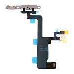 New Power Button & Flashlight Flex Cable with Brackets for iPhone 6